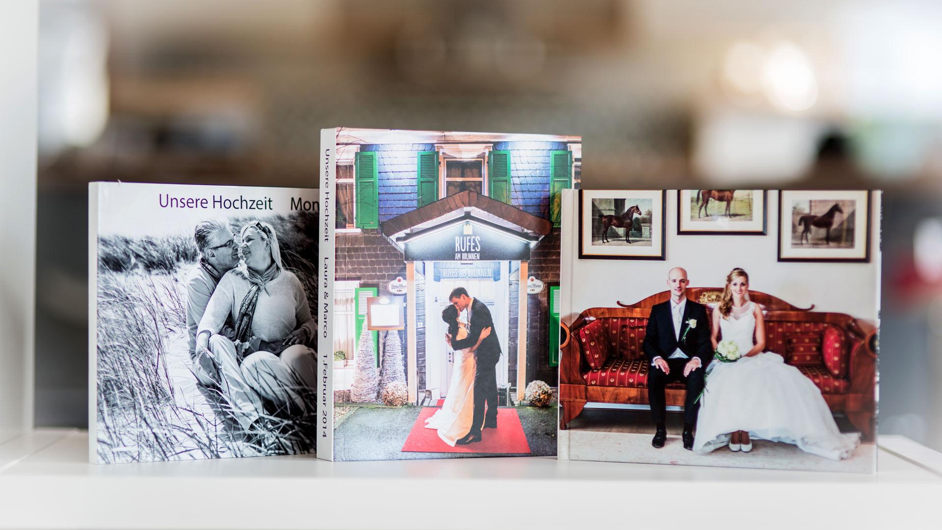 Hochzeitsbücher im hochwertigem Digitaldruck aufwendig gearbeitet und handwerklich perfekt gebunden