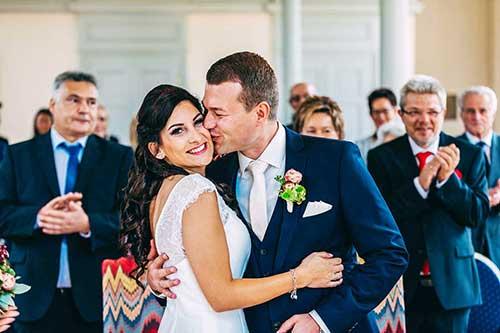 Hochzeitsreportage NRW Hochzeitsfotos wärend der Trauung
